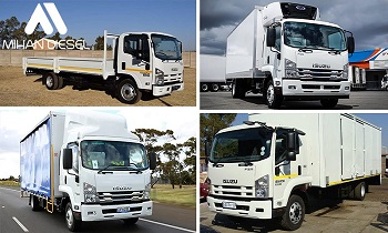 مشخصات فنی کامیونت 8 تن ایسوزو