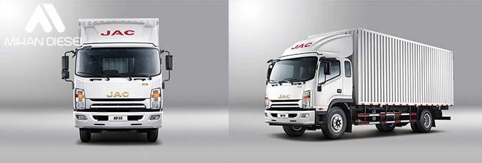 مشخصات کامیونت 8 تن جک